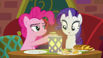 Rarity impressed with the food's taste S6E12