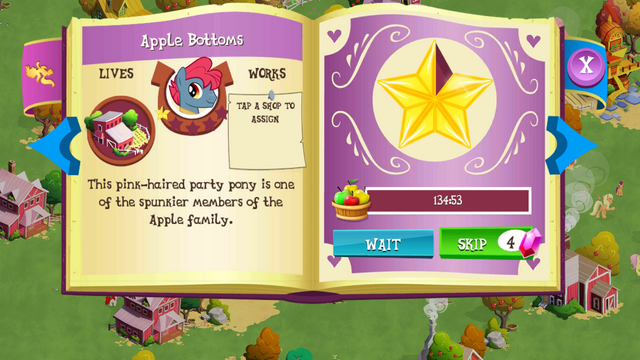 File:Apple Bottoms album page MLP mobile game.png