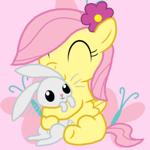 File:FANMADE Filly Fluttershy and Angel.png