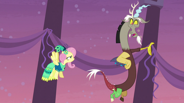 File:Discord criticizes Fluttershy for inviting Tree Hugger S5E7.png