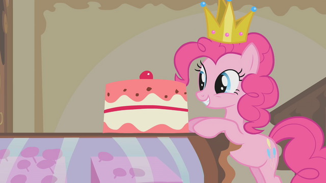 File:Pinkie Pie standing in front of a cake S1E10.png