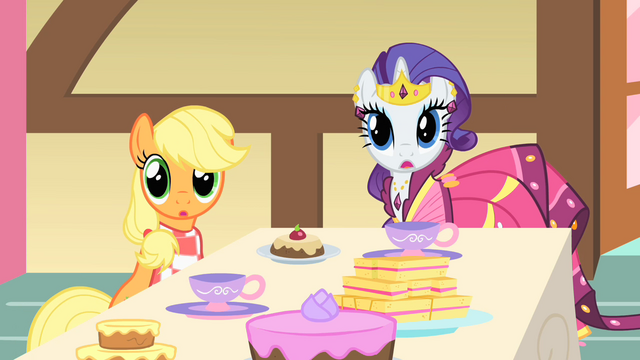 File:Applejack and Rarity look to their side S1E22.png