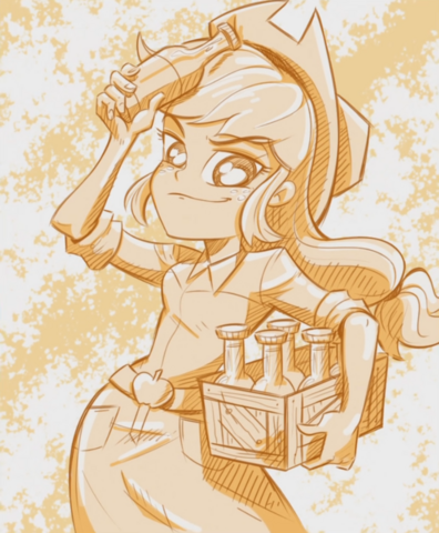 File:Applejack illustration by Katrina Hadley cropped EG2.png