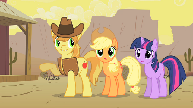File:Braeburn Showing Appleloosa to Twilight and Applejack S1E21.png