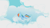 Rainbow Dash sleeping in the bed S01E10