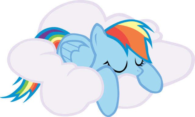 File:FANMADE Rainbow Dash sleeping on cloud.png