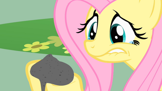 File:Fluttershy holding Philomena's ashes S1E22.png