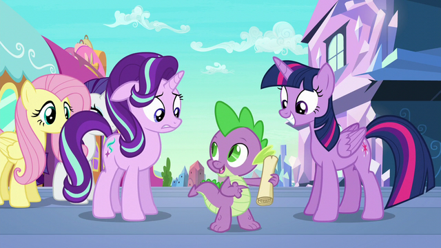 """File:Spike """"all we have to do is follow it!"""" S6E1.png"""
