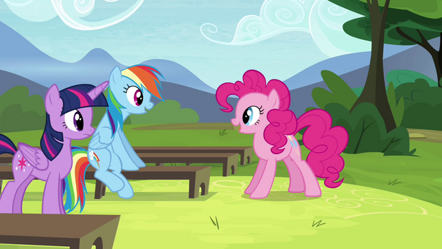 """File:Pinkie Pie """"So, d'you get it?"""" S4E21.png"""