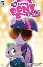 Comic issue 40 Hot Topic cover