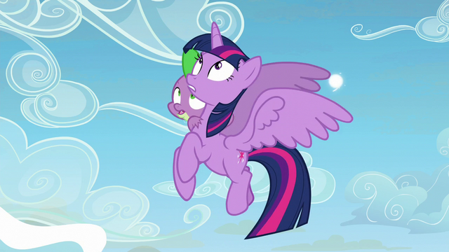 File:Twilight Sparkle and Spike looks up at Twilight S5E26.png