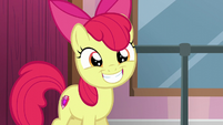 Apple Bloom smiling wide S6E4