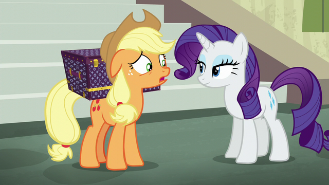 "File:Applejack ""ponies move so fast here"" S5E16.png"