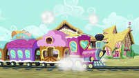Friendship Express pulls into the station S6E22