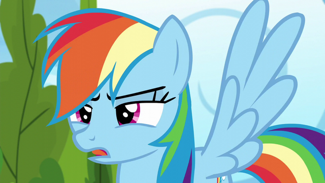 "File:Rainbow Dash ""nopony else is here"" S6E7.png"