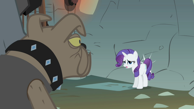 File:Rarity being moved to a wall behind her S1E19.png