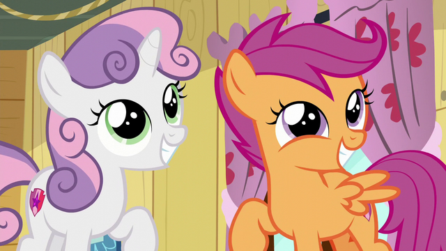 File:Sweetie Belle and Scootaloo smiling S6E4.png