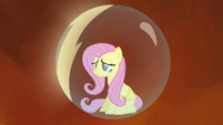 Fluttershy's bubble prison glowing S4E26