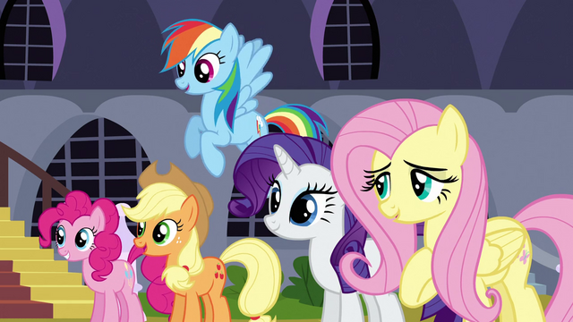 File:Other main ponies looking at each other S3E2.png