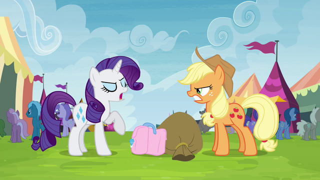 "File:Rarity trying not to be ""out-friended"" S4E22.png"