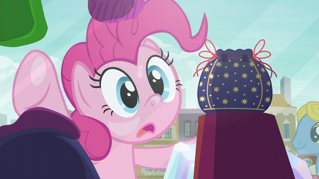 File:Pinkie Pie in awe of the rock pouch S6E3.png