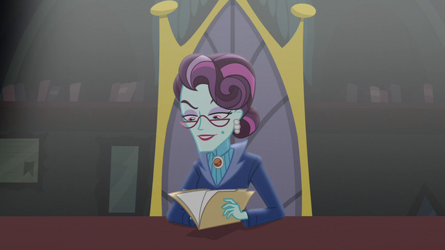 File:Principal Cinch looks at Twilight's application EG3.png