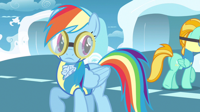 File:Rainbow Dash looking over shoulder S3E7.png