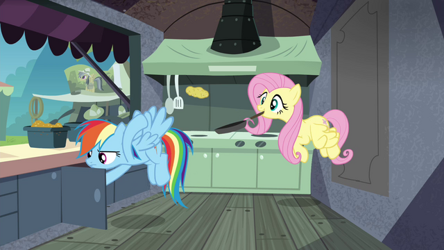 File:Rainbow and Fluttershy behind the burger stand S4E22.png