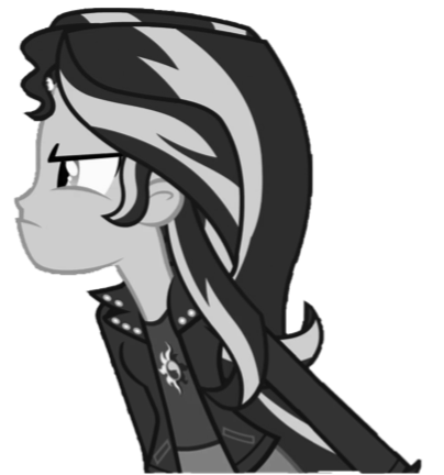 File:FANMADE Sunset Shimmer B&W.png