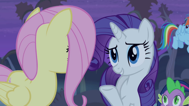 File:Rarity reassuring Fluttershy S4E07.png