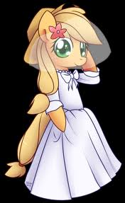 File:FANMADE Applejack in a wedding dress.jpg