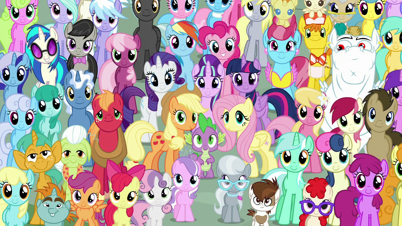 Image - Mane Six and ponies final crowd shot S5E26.png ...
