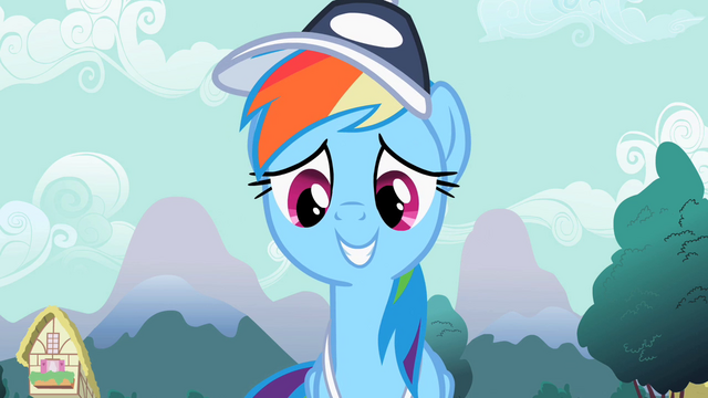 File:Rainbow Dash smiling S2E07.png