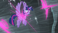 Twilight teleports into the air S5E1