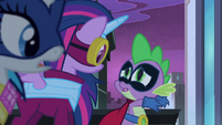 "Spike tells Twilight to ""freeze her mane!"" S4E06"