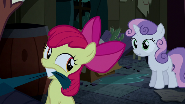 File:Sweetie Belle tries to stop Apple Bloom S5E6.png