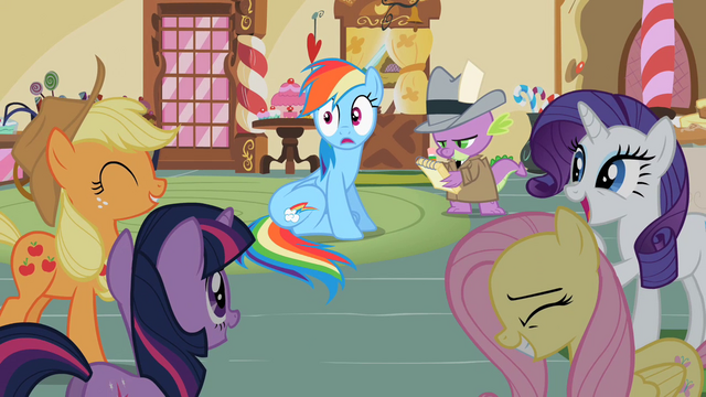 File:Group laughing at Rainbow Dash S2E08.png