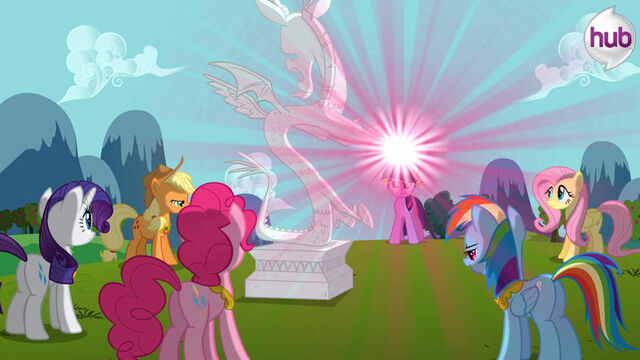 File:Promotional main ponies about to free Discord S3E10.jpg
