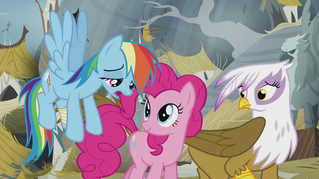 "File:Rainbow sad ""we'll never be able to solve"" S5E8.png"