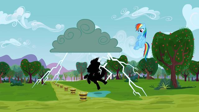 File:Applejack being struck by lightning 1 S3E8.png