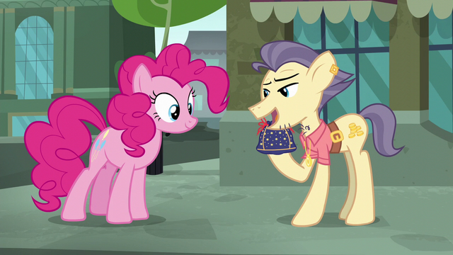 """File:Pouch Pony """"really hard to come by these days"""" S6E3.png"""