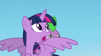Twilight sees Starlight fly away S5E26