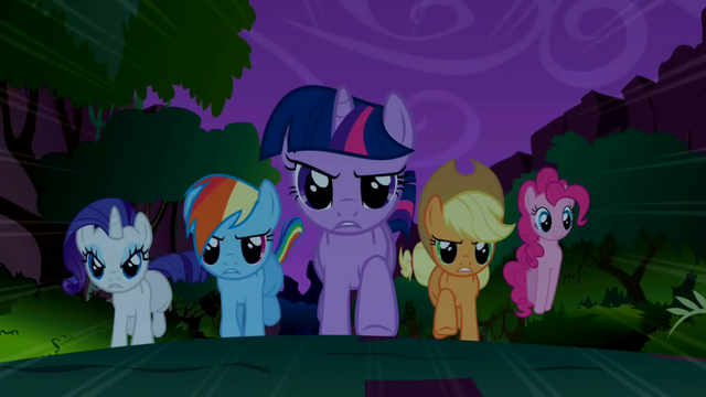 File:Main 5 ponies charging towards the Manticore S1E02.png