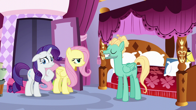 File:Zephyr pleased with himself; Fluttershy annoyed S6E11.png