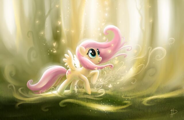 File:FANMADE Fluttershy with trees.jpg