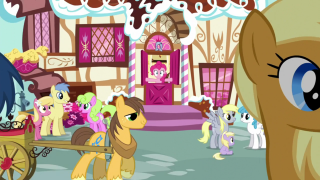 File:Ponies conversing outside Sugarcube Corner S5E19.png