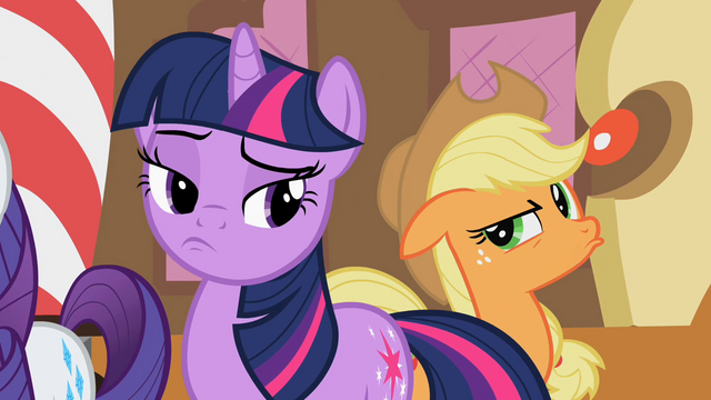 File:Twilight and Applejack pondering S02E08.png