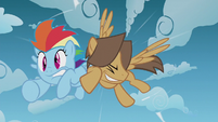 Hoops bumping into Rainbow Dash S5E25