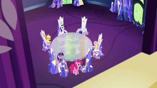 File:Main five watch Rainbow Dash fly away S6E15.png