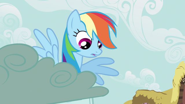 File:Rainbow Dash looking at CMC S2E23.png